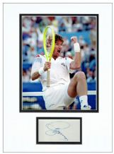 Jimmy Connors Autograph Signed Display